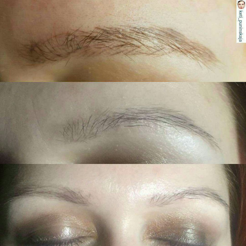 poor performed microblading