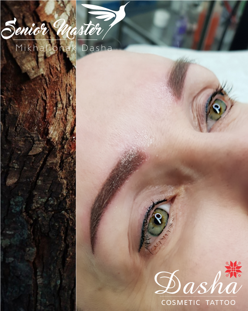Healed Eyeliner and Fresh Eyebrows Semi Permanent Makeup